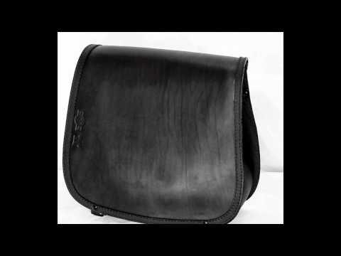 04d3b442fa Borsa in cuoio per moto Harley Davidson Sportster - YouTube