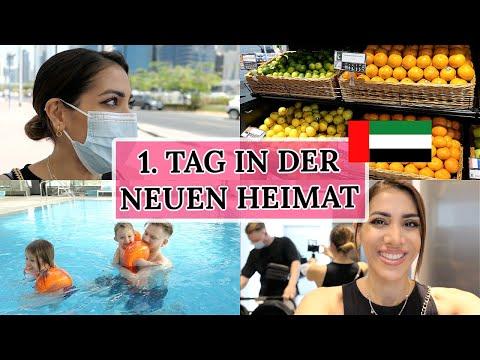 VLOG - DER 1. TAG IN DUBAI - Medical Test / Einkaufen / Schwimmen I van Dyk Family