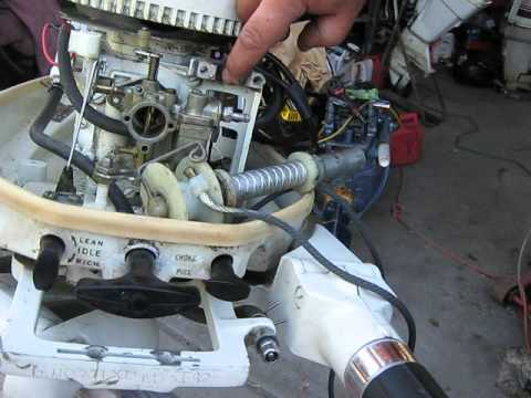 Force Engine Carburetor Diagram Chrysler And West Bend Outboard Motor Recoil Repair Youtube