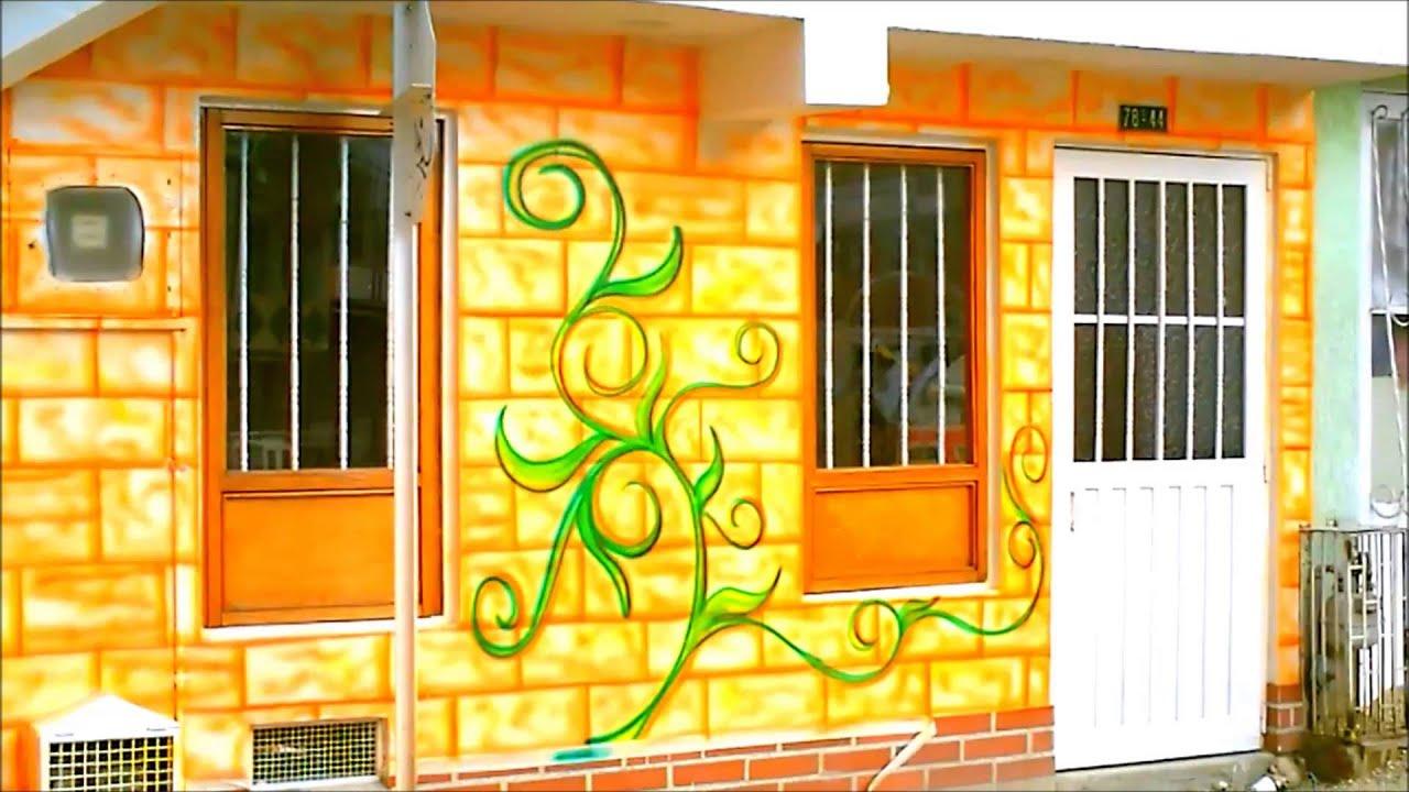 Aerografia y decoracion mural fachadas e interiores youtube - Decoracion de fachadas ...