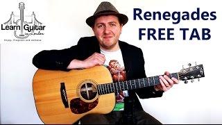 Renegades - Easy Acoustic Guitar Lesson  -  X Ambassadors - FREE TAB