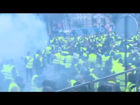 Paris police use tear gas, water cannons on protesters