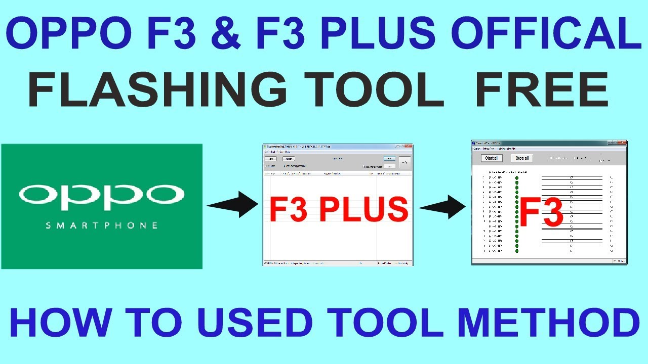 OPPO F3 & F3 PLUS OFFICAL FLASHING TOOL FREE - HOW TO USED TOOL METHOD