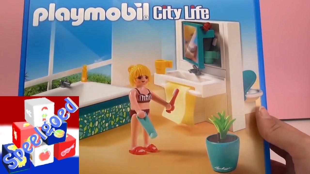 Playmobil bad – Playmobil City Life Badkamer Unboxing + Demo Bath ...