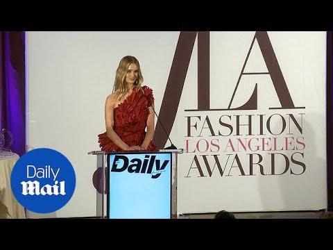 Rosie Huntington-Whiteley Takes The Stage At Fashion Awards