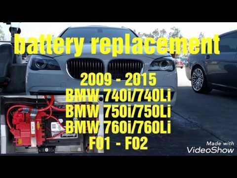 2009 - 2015 BMW F01 F02 740i 740Li 750i 750Li 760i 760Li battery replacement