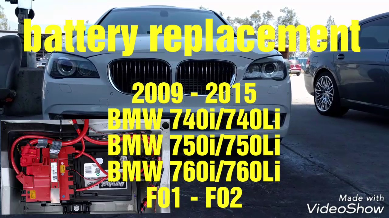 2009 2015 Bmw F01 F02 740i 740li 750i 750li 760i 760li Battery Replacement Youtube