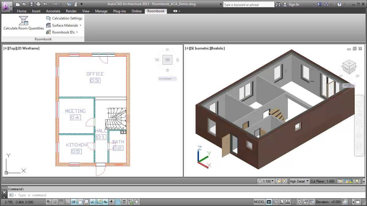Working With Roombook Autocad Architecture 2013 Youtube