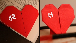How to Make Origami Heart Bookmarks