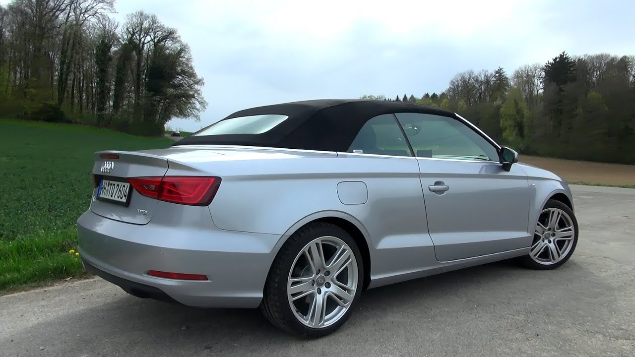 2015 audi a3 cabrio 1 4 tfsi 125 hp test drive youtube. Black Bedroom Furniture Sets. Home Design Ideas