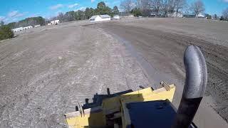 Dozer Finish Grading A Ditch