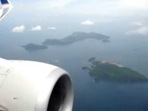 Landing in Panama city. Journey Havana, Panama city. Boeing 737-800.