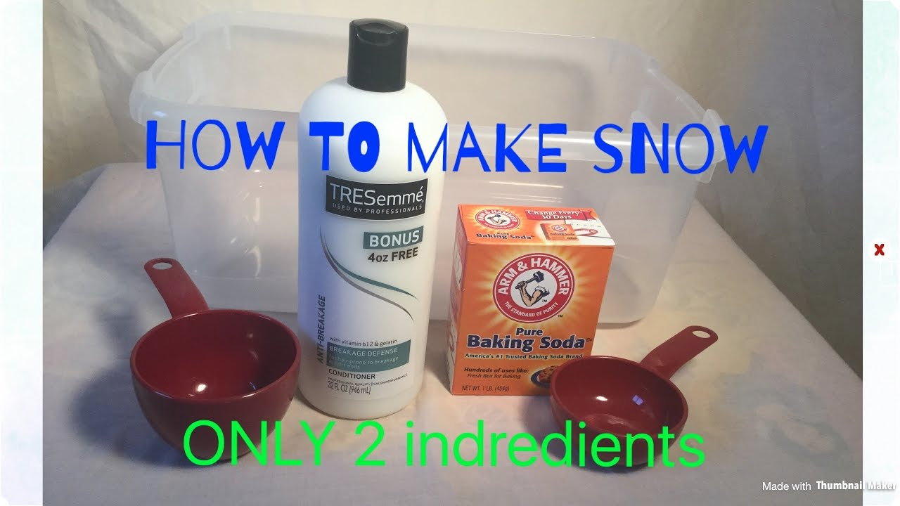 How to make fake snow only ingredients diy