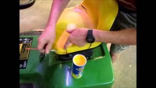 Repairing A John Deere Tractor Seat
