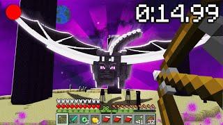 45 SANİYEDE MİNECRAFT BİTİRDİM 😱 - Minecraft