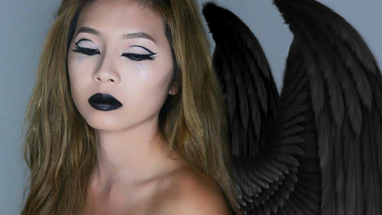 EASY dark angel/ fallen angel Halloween Tutorial - YouTube