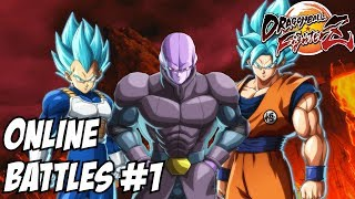 Dragon ball FighterZ Hit SSJ Blue Goku and Vegeta online battles #1