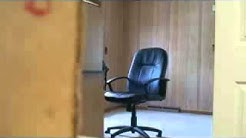 Fat boss breaks office chair