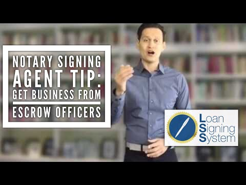 Why Getting Loan Signings from Escrow Officers is the Pinnacle of Notary Signing Agent Business