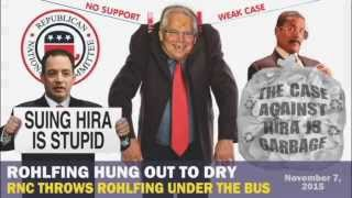 ROHLFING HUNG OUT TO DRY:  The Republican National Committee Throws Fritz Rohlfing Under the Bus
