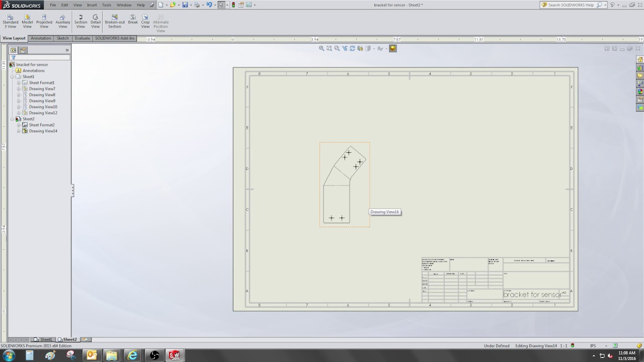 Show bend lines (and angle) sheet metal drawing - solidworks - video 131