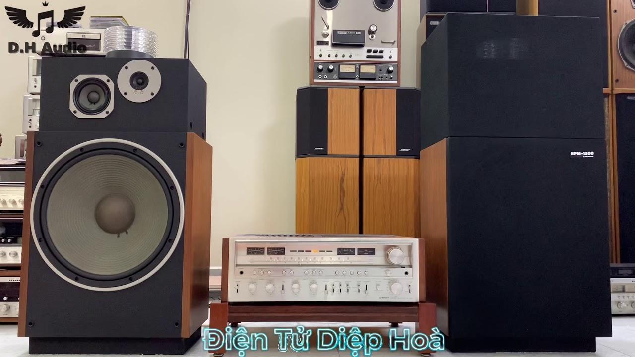 Loa Pioneer HPM 1500 hàng hiếm vs Amply Pioneer 1280 ở Điện Tử Diệp Hoà -0794619666