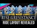 RIDE LAYOUT REVEALED for Rise of the Resistance at Star Wars Galaxy's Edge - Disney News - 10/13/19