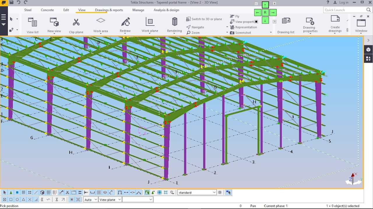 Best Tapered Portal Frame Structure Modelling Part 2 In