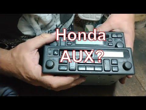 AUX в оригинальной магнитоле Honda
