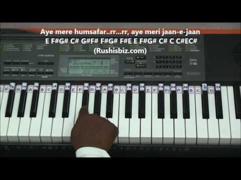 Aye Mere Humsafar (Piano Tutorials) - Baazigar