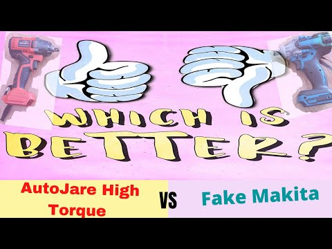 The Best Impact Wrench? Let's See: AutoJare High Torque vs  Fake Makita