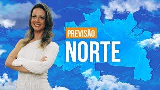 Previsão Norte - chuva mais forte entre RO, Acre e Amazonas.