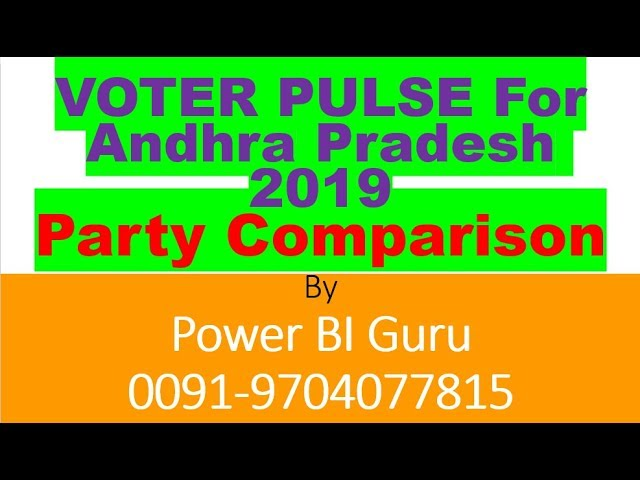 PARTY COMPARISON OF AP-2009/2014| VOTER PULSE FOR 2009 |POWER BI GURU | TDP |YSRECP| JANASENA|