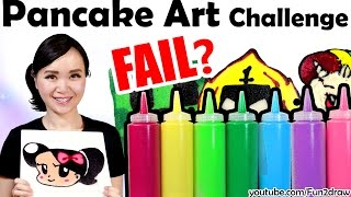 First PANCAKE ART CHALLENGE!