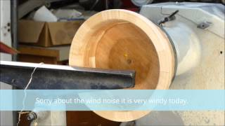Wood Turning With Naked Turner%2c Segmented Nut Bowl