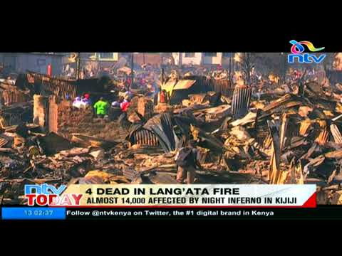 Four confirmed dead in Lang'ata fire tragedy