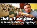 SATE SAPI PAKAI KUAH GURIH!!! Soto Tangkar & Sate Kuah Daging Sapi Pak H. Diding Sejak 1960