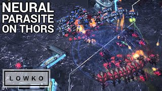 StarCraft 2: NEURAL PARASITE ON THORS! (Solar vs Cure)