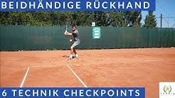 Tennis beidhändige Rückhand   6 Technik Checkpoints   Tennis Mastery
