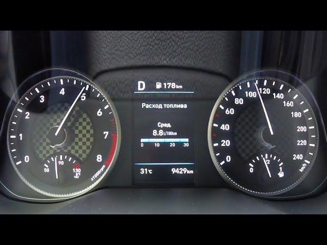 Hyundai Elantra 2.0 -  разгон 0 - 100
