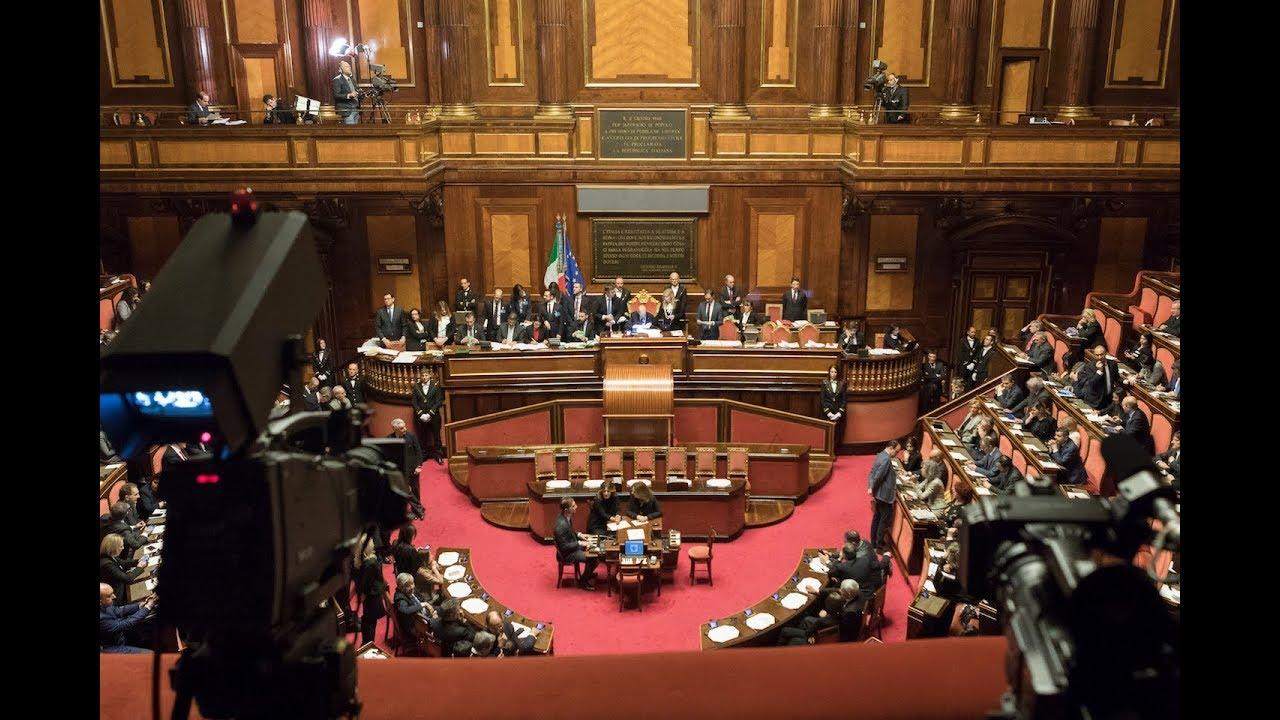 speciale accoglienza in senato dei senatori eletti nella