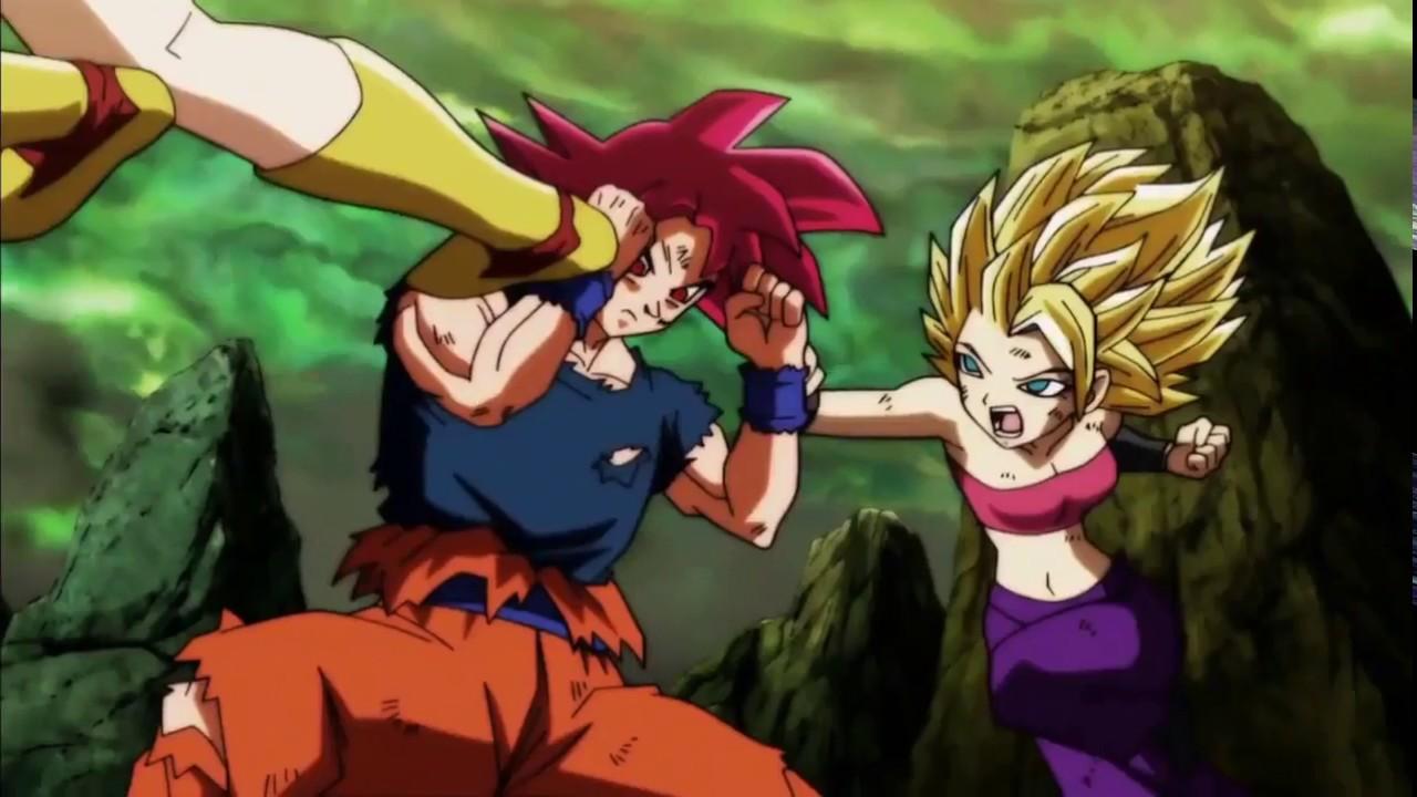 Super Saiyan God Red Goku Against Kale  Cauliflakefla -1654