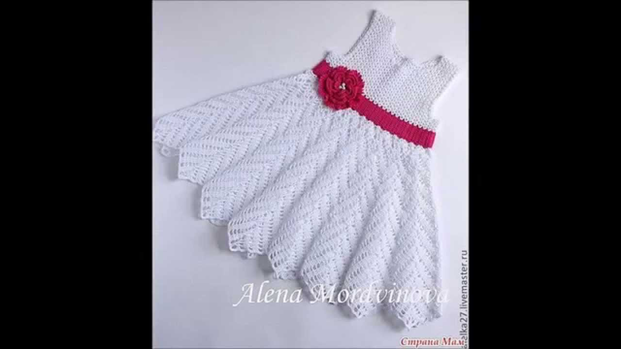 how to crochet kid\'s childrens girl dress - YouTube