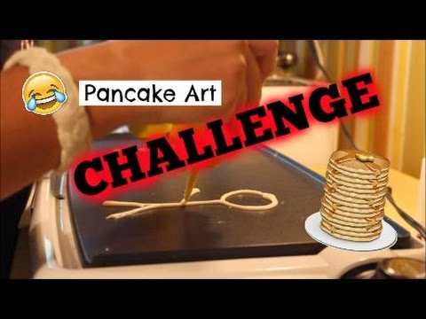 Pancake Art Challenge : Pancake Art Challenge MAKING ART WITH FOOD - YouTube