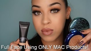FULL FACE USING ONLY MAC PRODUCTS| ONE BRAND MAKEUP TUTORIAL| Victoria Lane