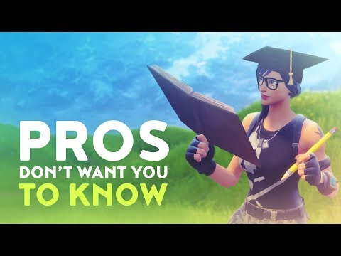 WHAT THE PROS DON'T WANT YOU TO KNOW! (Fortnite Battle Royale - Dakotaz)