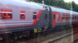 ロシア国鉄 電車同士の並走