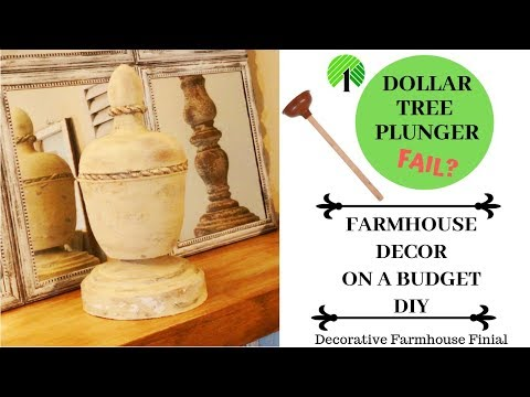 BUDGET FARMHOUSE DECOR DIY-DOLLAR TREE DIY... FAIL?