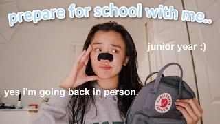 preparing for back to school 2020 *junior year*