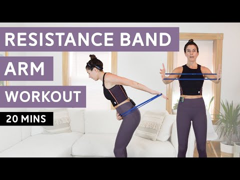 Resistance Band Arm Workout Triceps, Biceps, Shoulders